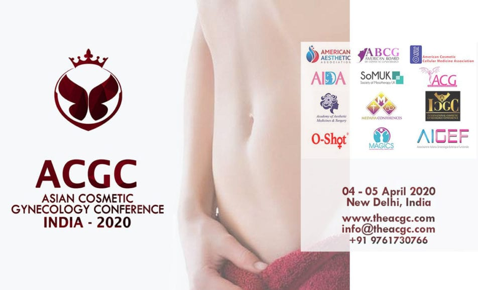 1st Asian cosmetic gynecology conference in new delhi india in April 2020